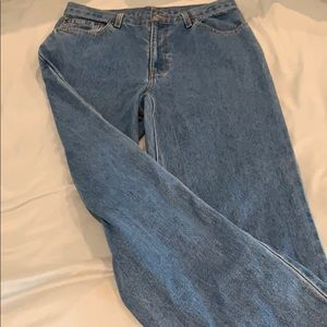 Denim - High Rise cropped wide leg flare jeans vintage
